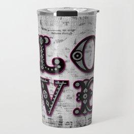 Mystic Pink Love Travel Mug