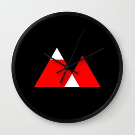 Mountain Triangle Snow Nerd Hipster Wall Clock