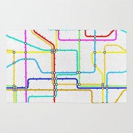 London Tube Underground Rug