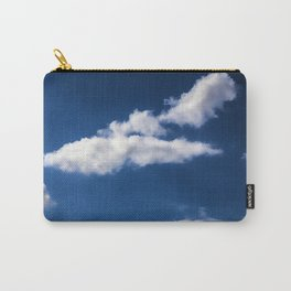 Blue Sky with white Clouds Carry-All Pouch