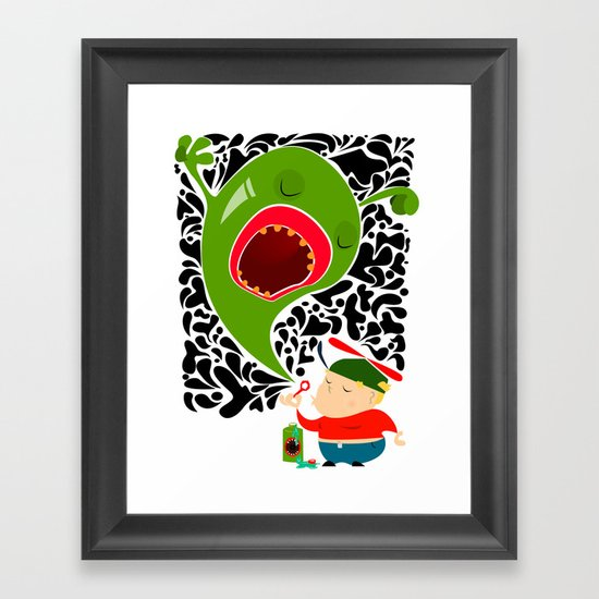 Blow for Kids Framed Art Print