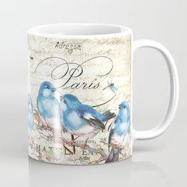Vintage Postcard with Bluebirds Coffee Mug