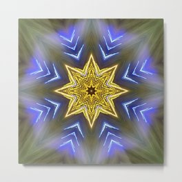 Glistening Golden Star Metal Print