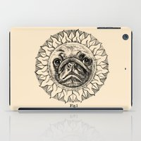 astronomy iPad Cases featuring Astronomy Pug by beart24