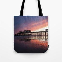 Hastings Pier Sunset Tote Bag