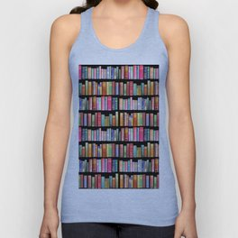 Antique Book Library for Bibliophile Unisex Tank Top