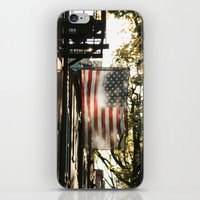 american flag iPhone & iPod Skins featuring American Flag by Shy Photog