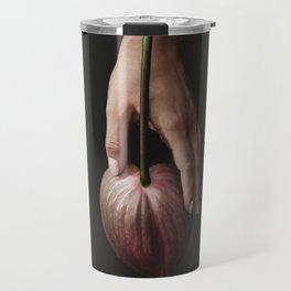 Hand with flower Travel Mug