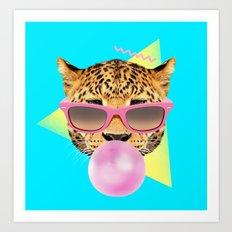 Bubble Gum Leo Art Print