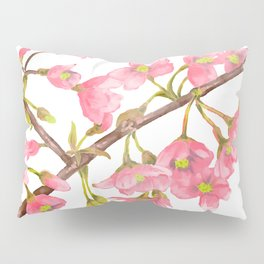 Watercolor Spring Tree Branche Pillow Sham