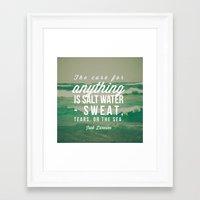 salt water Framed Art Prints featuring Salt Water Cure by Olivia Joy StClaire