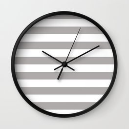 Grey Stripes Wall Clock