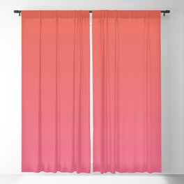 Pantone Living Coral & Pink Lemonade Gradient Ombre Blend Blackout Curtain