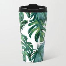 Tropical Palm Leaves Classic Metal Travel Mug