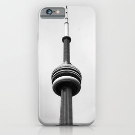 Canada Photography - The CN Tower Under Gray Clouds iPhone Case