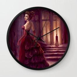 Don't Look Back - fantasy art Wall Clock