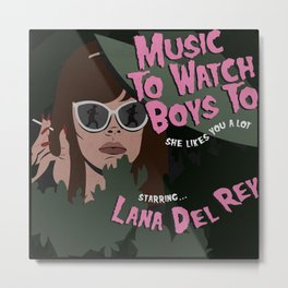 Music To Watch Boys To Metal Print