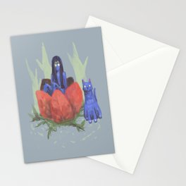 fairy and kitten Stationery Cards