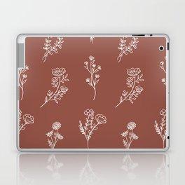 Botanical Wildflowers Line Art Laptop & iPad Skin