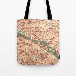 Vintage Map of Paris France (1910) Tote Bag