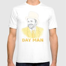 Day Man White Mens Fitted Tee MEDIUM