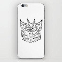 Decepticon Tech Black and White iPhone Skin