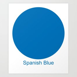Spanish Blue Art Print