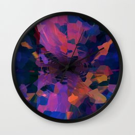 An Icy Sunset Wall Clock
