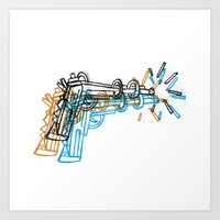 gun Art Prints featuring Gun by Marcelo Romero
