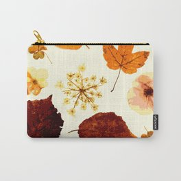 Pressed flowers and leaves Carry-All Pouch