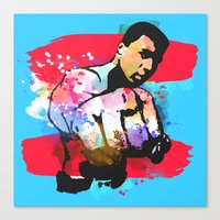 ali gulec Canvas Prints featuring Ali by BIG Colours