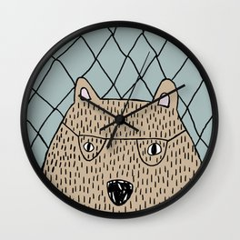 Spectacled Bear Wall Clock