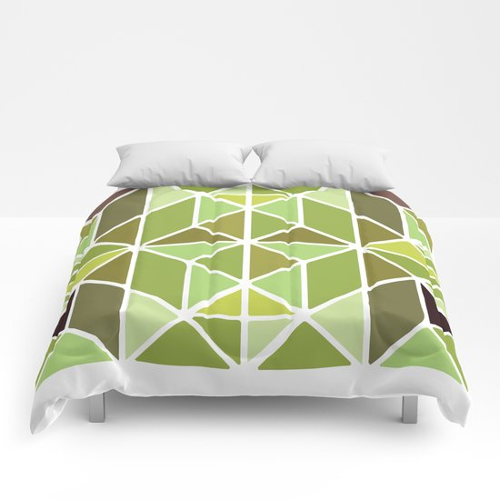 Green Mosaic Comforters