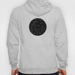 Geometric Black and White Minimalist Pattern Hoody