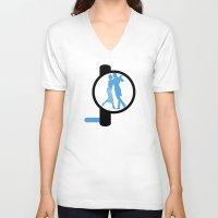 bauhaus V-neck T-shirts featuring Dancing Bauhaus by Addison Karl