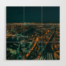 East London from above Wood Wall Art
