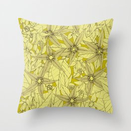 deadly nightshade chartreuse Throw Pillow