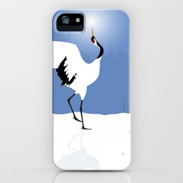 Red Crowned Crane iPhone Case