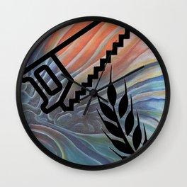 Saw Wheat GCB Wall Clock