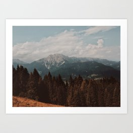 Mountains and Woods Art Print