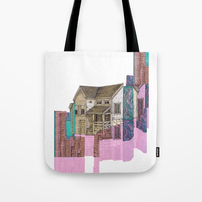 glitch house illustration Tote Bag