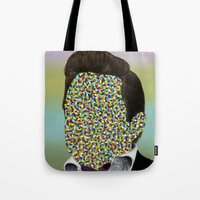 johnny cash Tote Bags featuring CASH by FAMOUS WHEN DEAD