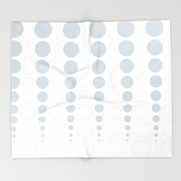 Up and down polka dot pattern in white and a pale icy gray Throw Blanket