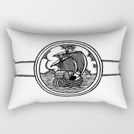Ship stamp Rectangular Pillow