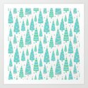 Pastel Christmas Tree Forest by tanyalegere