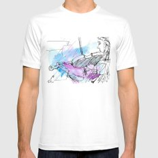 Violin in two tones II White Mens Fitted Tee MEDIUM