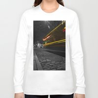 dumbo Long Sleeve T-shirts featuring DUMBO Light trail by Juha Photography