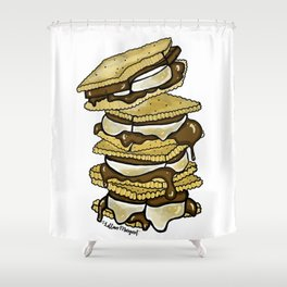 Stack of S'mores Shower Curtain