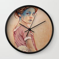 bow Wall Clocks featuring Within White by Michael Shapcott
