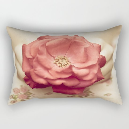 Rose in her hands III Rectangular Pillow